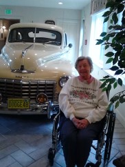 mom and 1948 dodge